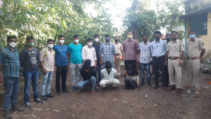 Three tiger poachers arrested by Buldhana Forest Division with the help of Melghat Cyber crime cell